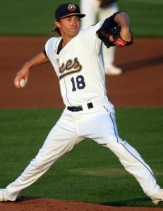Stockton Ports Pitcher Tanner Peters (8 1/3 IP / 1 H / 0 ER / 0 BB / 14 K / Win)