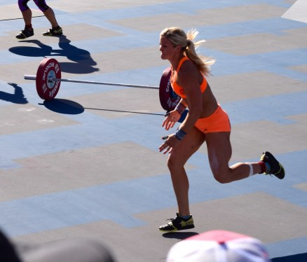 No, I did NOTHING to photoshop Brook Ence's hamstrings. | Speed Snatch Ladder - Women