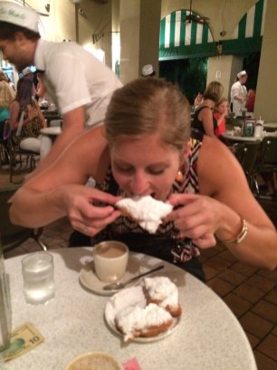 Pwned by beignets at Cafe du Monde