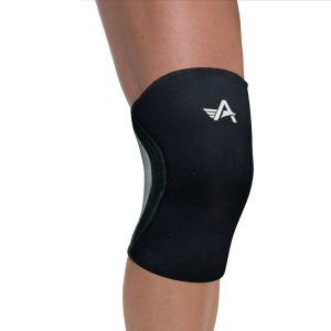 Athlos Fitness 5mm Neoprene Compression Knee Support Sleeve Black/Grey