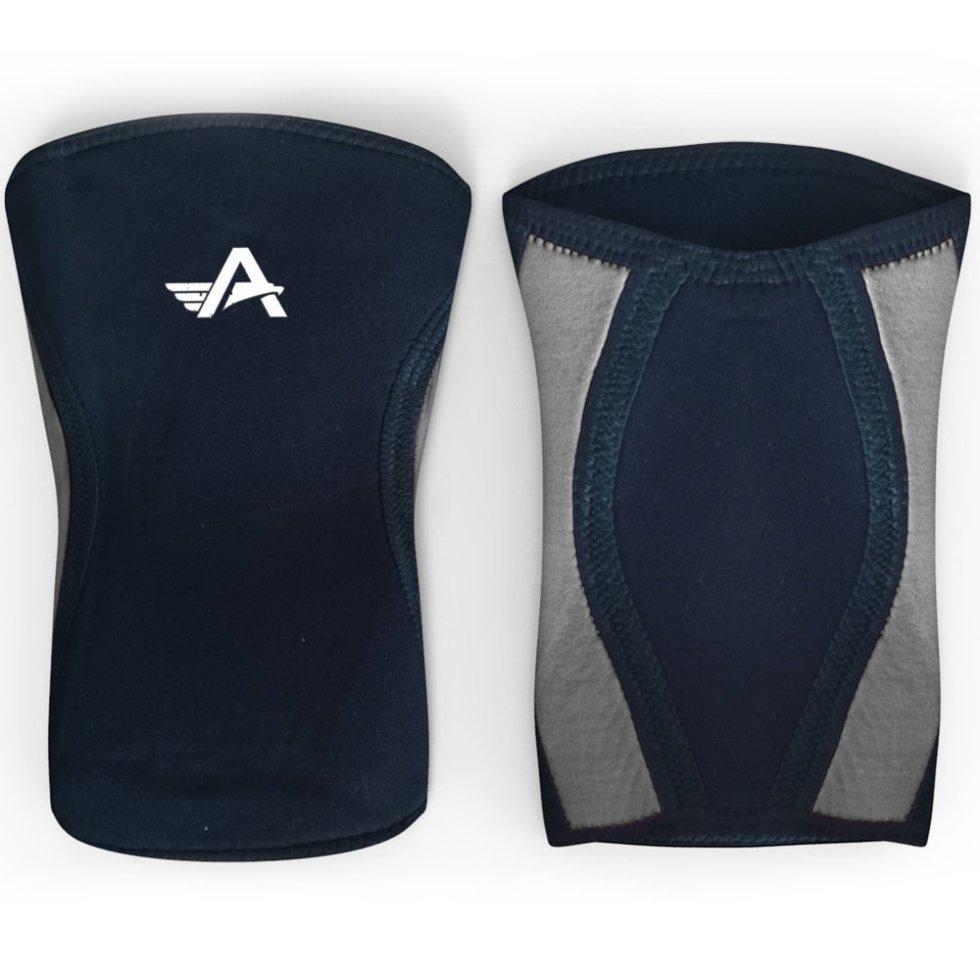 Athlos Fitness 5mm Neoprene Compression Knee Support Sleeve Black/Grey