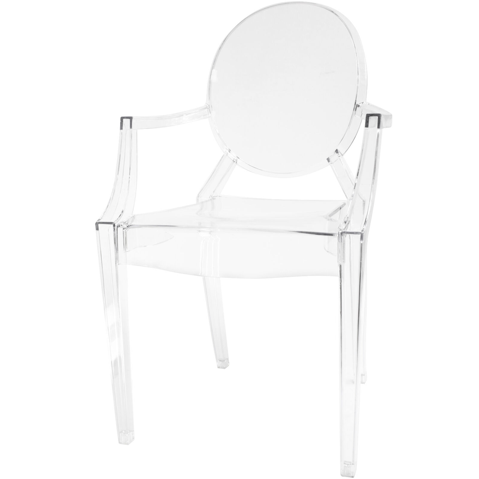At Home Chairs Acrylic Ghost Chair Clear