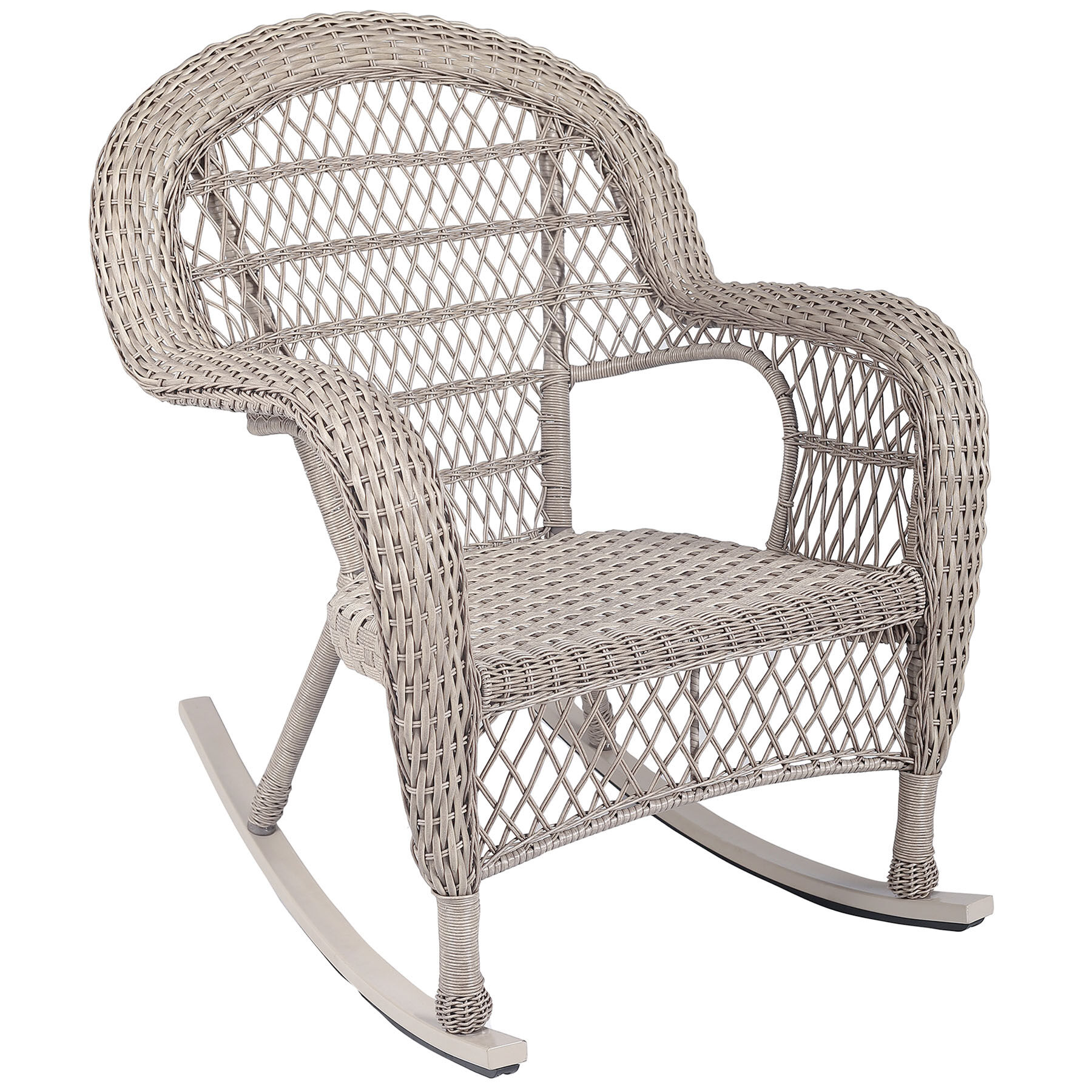 Wicker Rocking Chair Stackable Wicker Rocking Chair Taupe At Home
