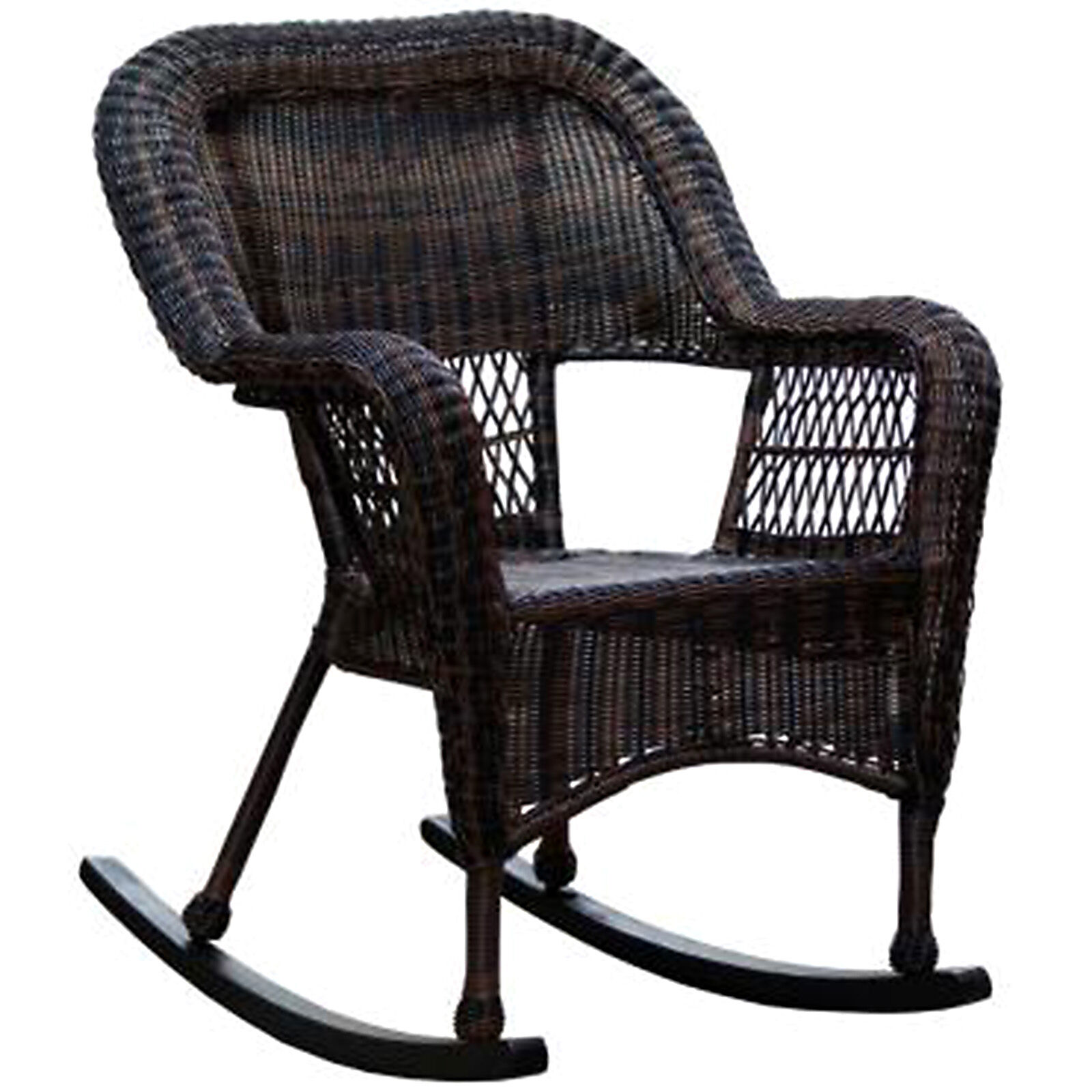 Wicker Rocker Chair Dark Brown Wicker Outdoor Patio Rocking Chair At Home