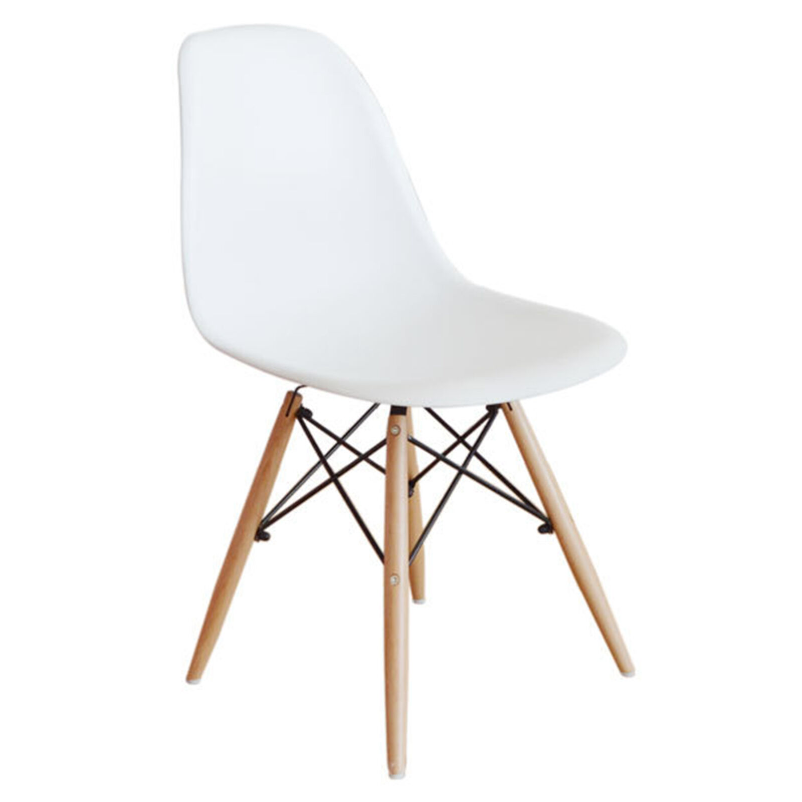White Wood Chair White Eiffel Chair With Wood Legs At Home