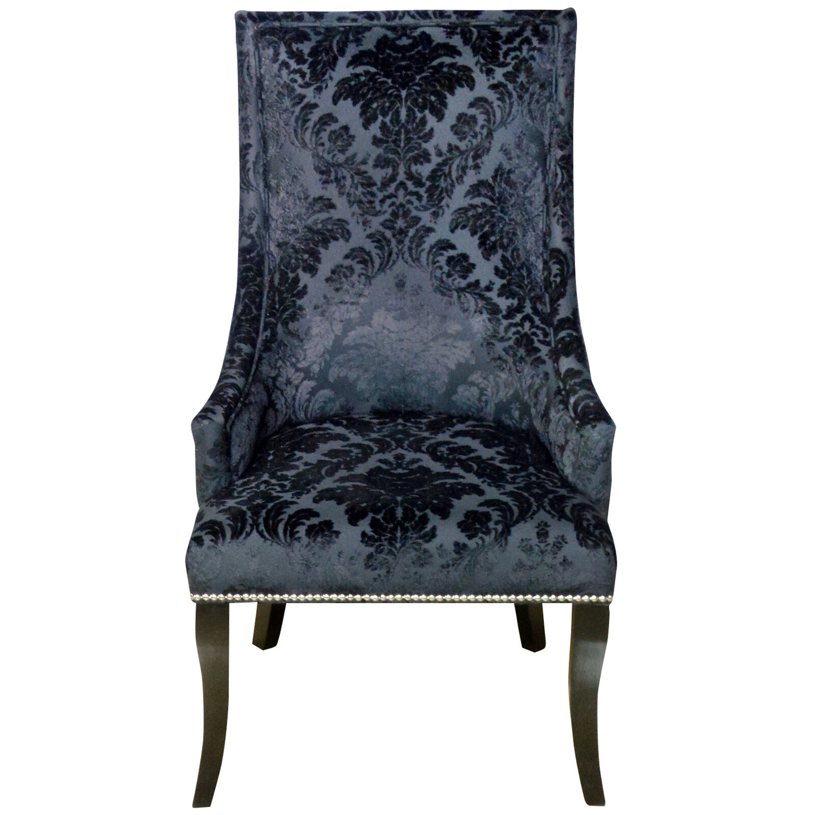 Damask Chair Chatham Accent Chair Black Velvet Damask At Home