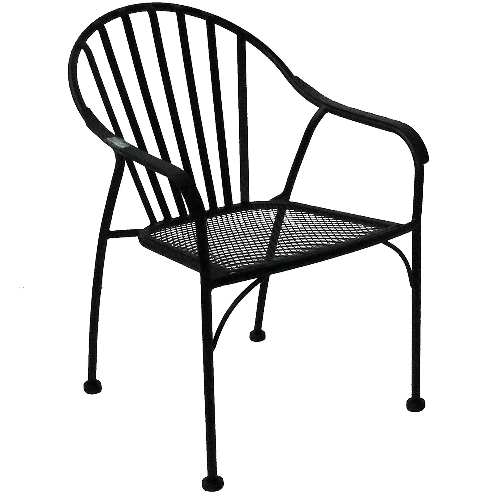 Black Patio Chairs Black Wrought Iron Slat Patio Chair At Home At Home