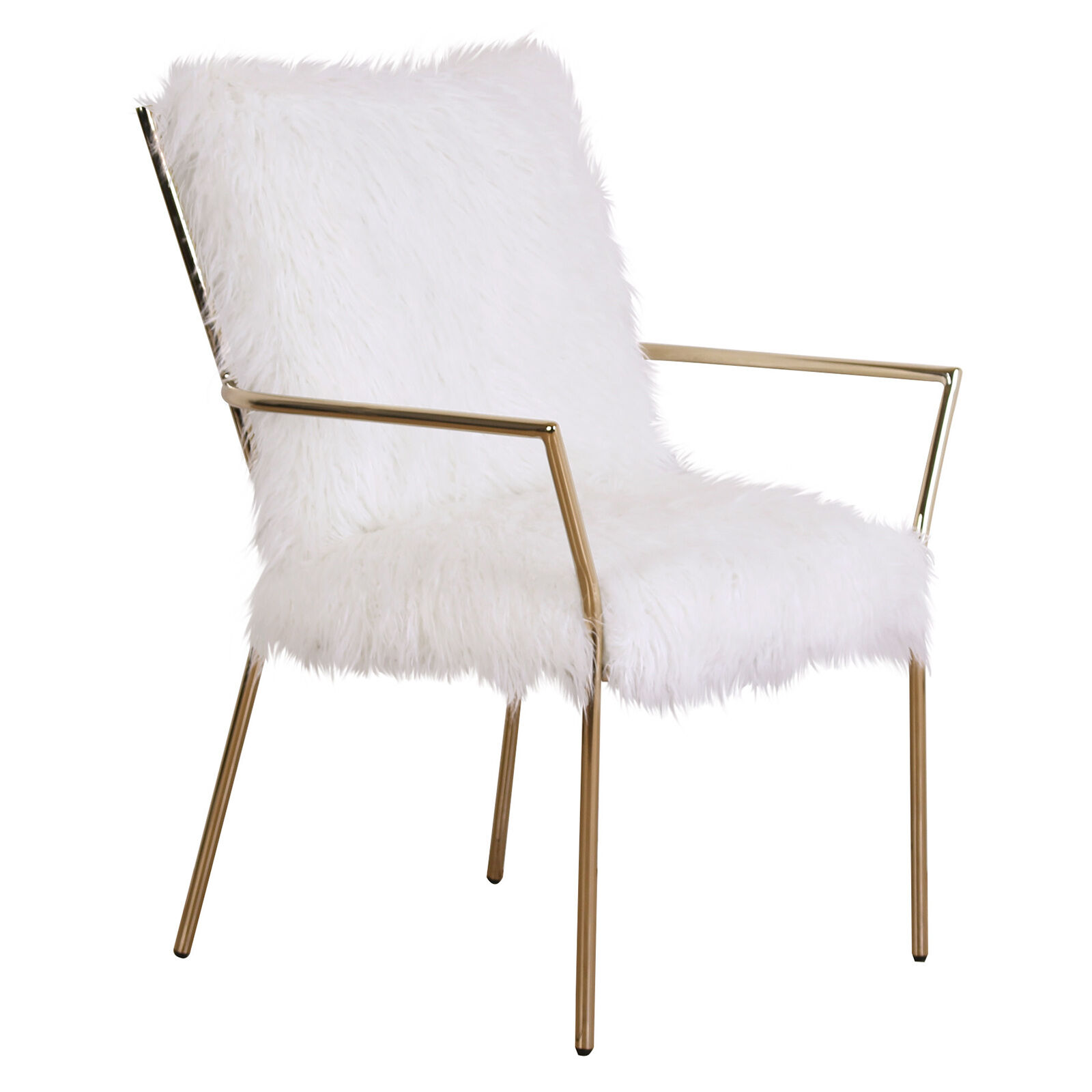 Furry Chairs Alexis Gold Fur Chair At Home