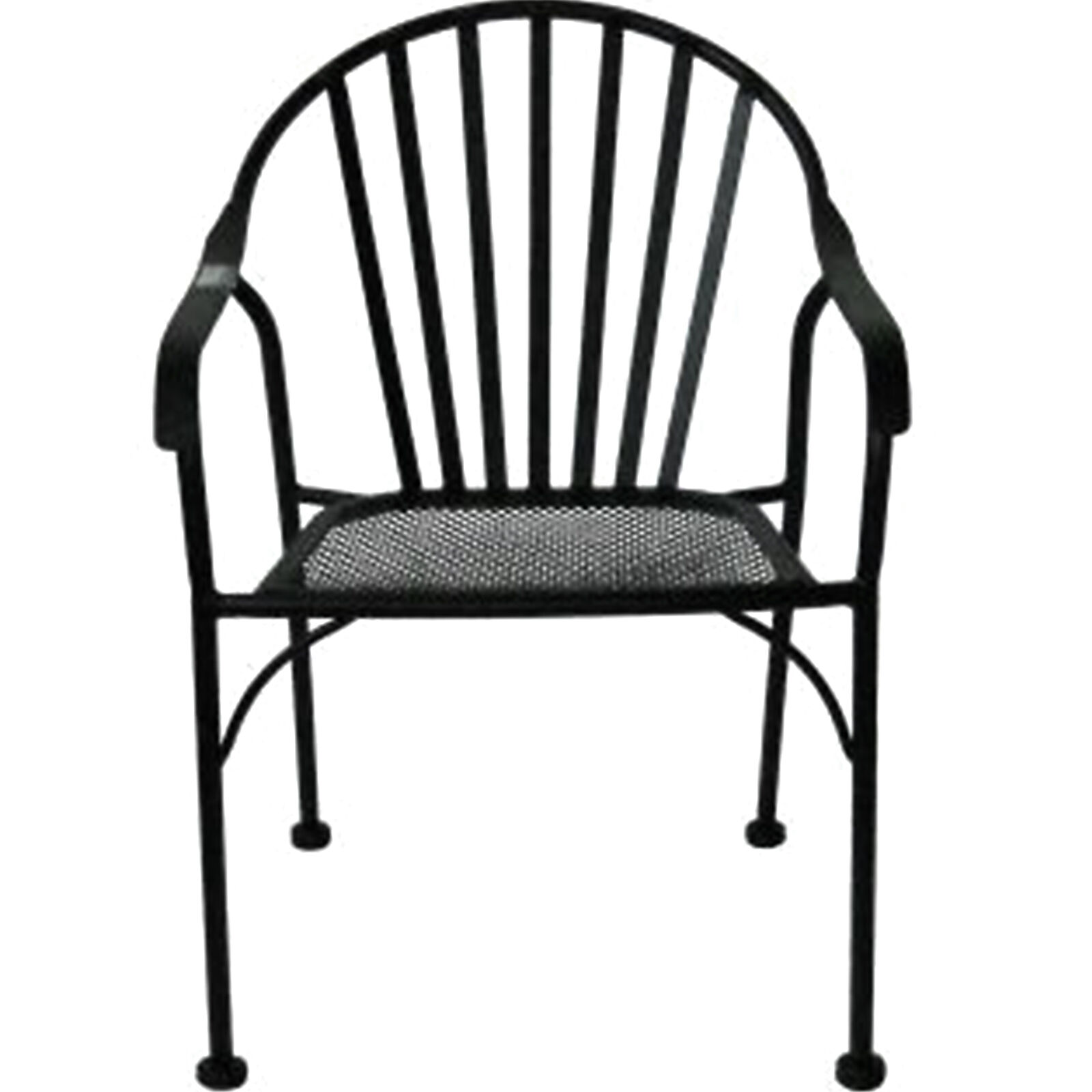 Black Patio Chairs Black Wrought Iron Slat Patio Chair At Home