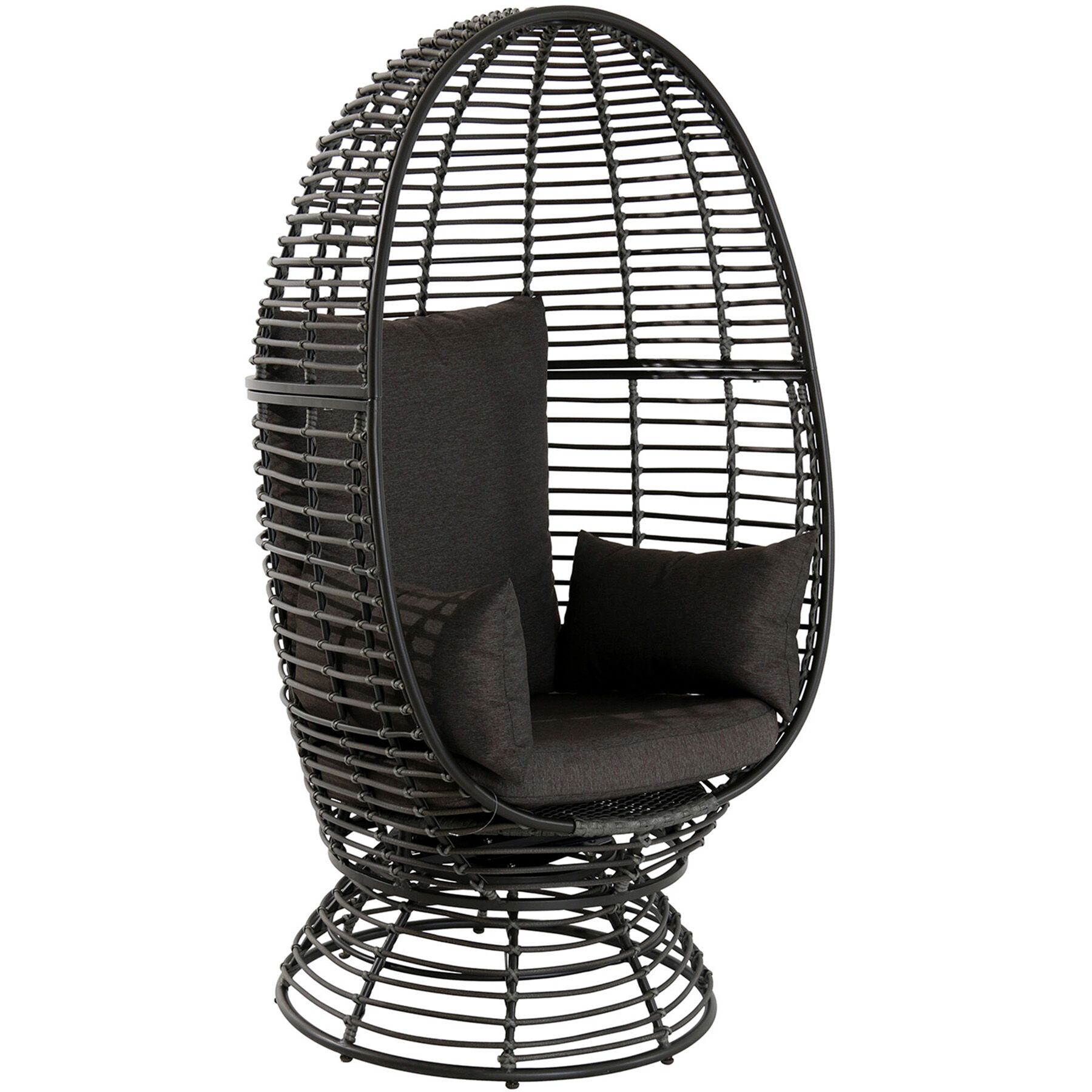 Egg Wicker Chair Foster Wicker Swivel Egg Chair Brown At Home
