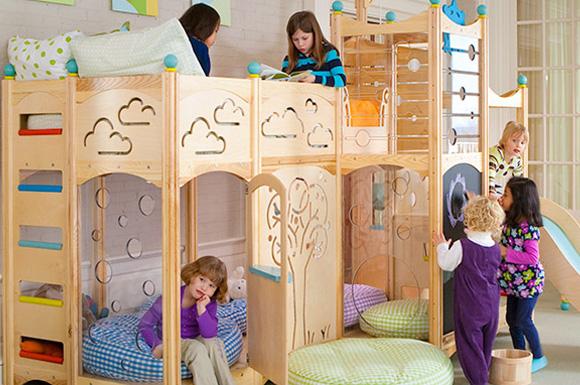 Loft Bunk Bed with Slide