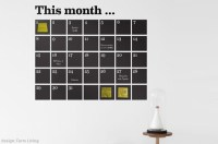 Chalkboard Calendar Wall Decals - At Home with Kim Vallee