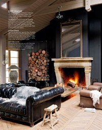 Living in the Dark: Black, Grey and Brown Rooms - At Home ...
