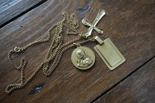 Médaille héritée du grand-père de Chema