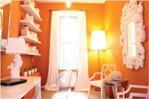 Orange is the New Black in Home Decor