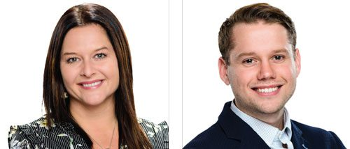 (Left) Jitka Siguenza, (Right) Jordan Sebastiano, WK Real Estate