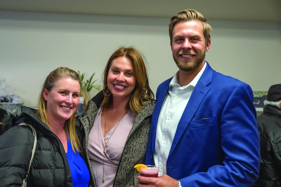 Mariah Hampson, Jessica Shanahan, Chris Larson from affiliate mortgage lender Premier Lending.