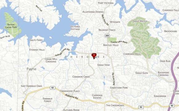 Acworth Map Neighborhood Location Parc At Kellogg Creek