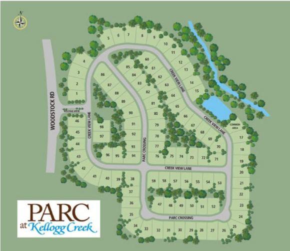 Site Plan The Park At Kellogg Creek Neighborhood