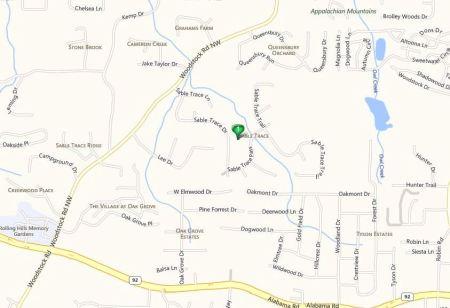 Acworth Map Sable Trace Neighborhood Location