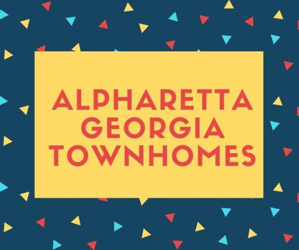 Alpharetta Georgia Townhomes For Sale