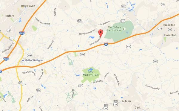 Buford GA Map Stone Ridge Manor Location