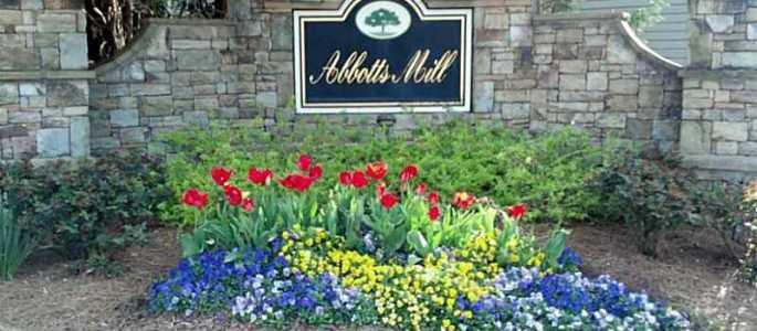 Johns Creek Townhome Neighborhood Abbotts Mill