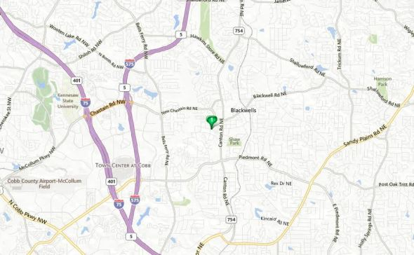 Marietta Georgia Map Addison Heights Location