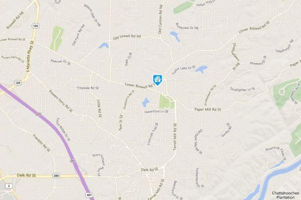 Marietta Map Location Of St Regis Park Neighborhood