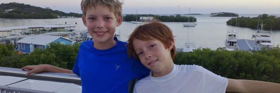 moving to puerto rico with kids: my boys posing at la parguera, puerto rico