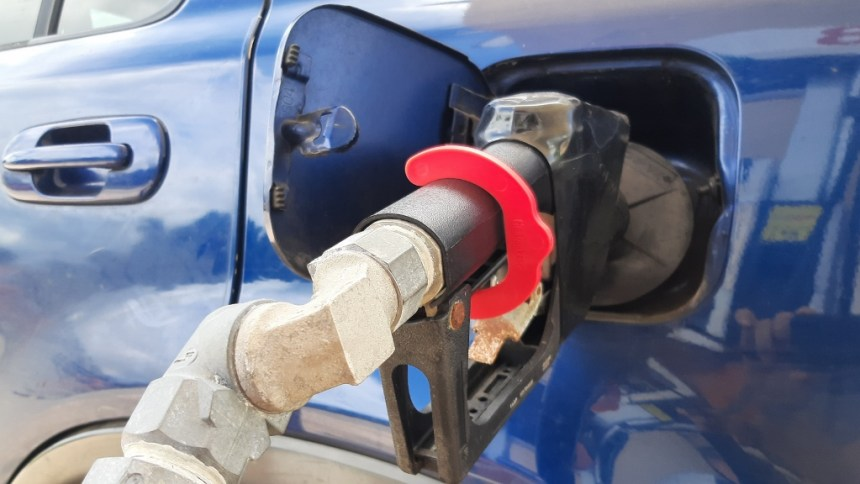 At Home in Puerto Rico - Pump gas hands-free with TheGasVise!