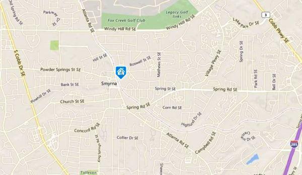 smyrna-georgia-map-location-of-roswell-street-commons-neighborhood