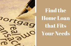 Find the Home Loan that Fits Your Needs
