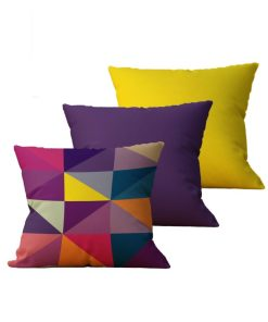 Kit com 3 Almofadas decorativas Geo Color - 45x45 - by #1 AtHome Loja