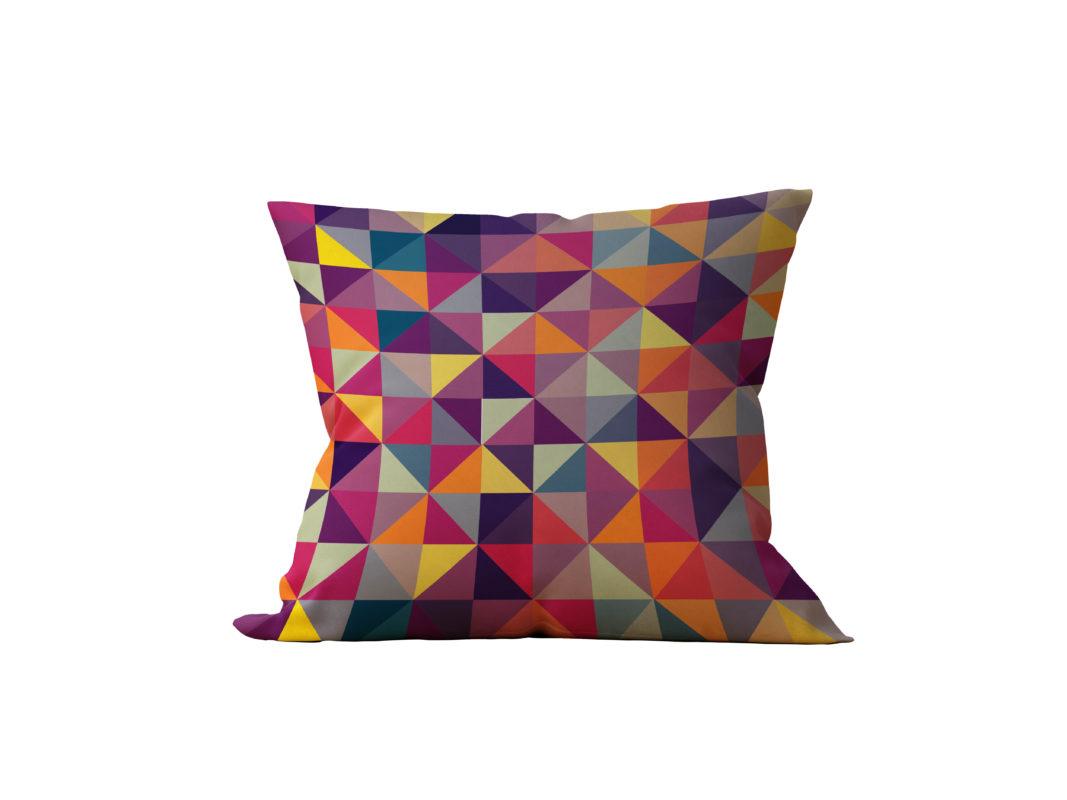 Almofada Decorativa Geométrica Colorida - 45x45