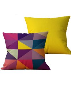 Kit com 2 Almofadas decorativas Geo Color Duo - 45x45 - by #1 AtHome Loja