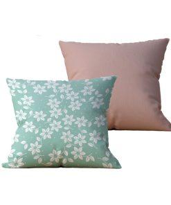 Kit com 2 Almofadas decorativas Flor Meu Jardim - 45x45 - by #1 AtHome Loja