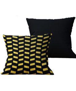 Kit com 2 Almofadas decorativas Black & Gold - 45x45 - by #1 AtHome Loja