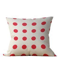 Almofada Decorativa Bolinhas Vermelhas - 45x45