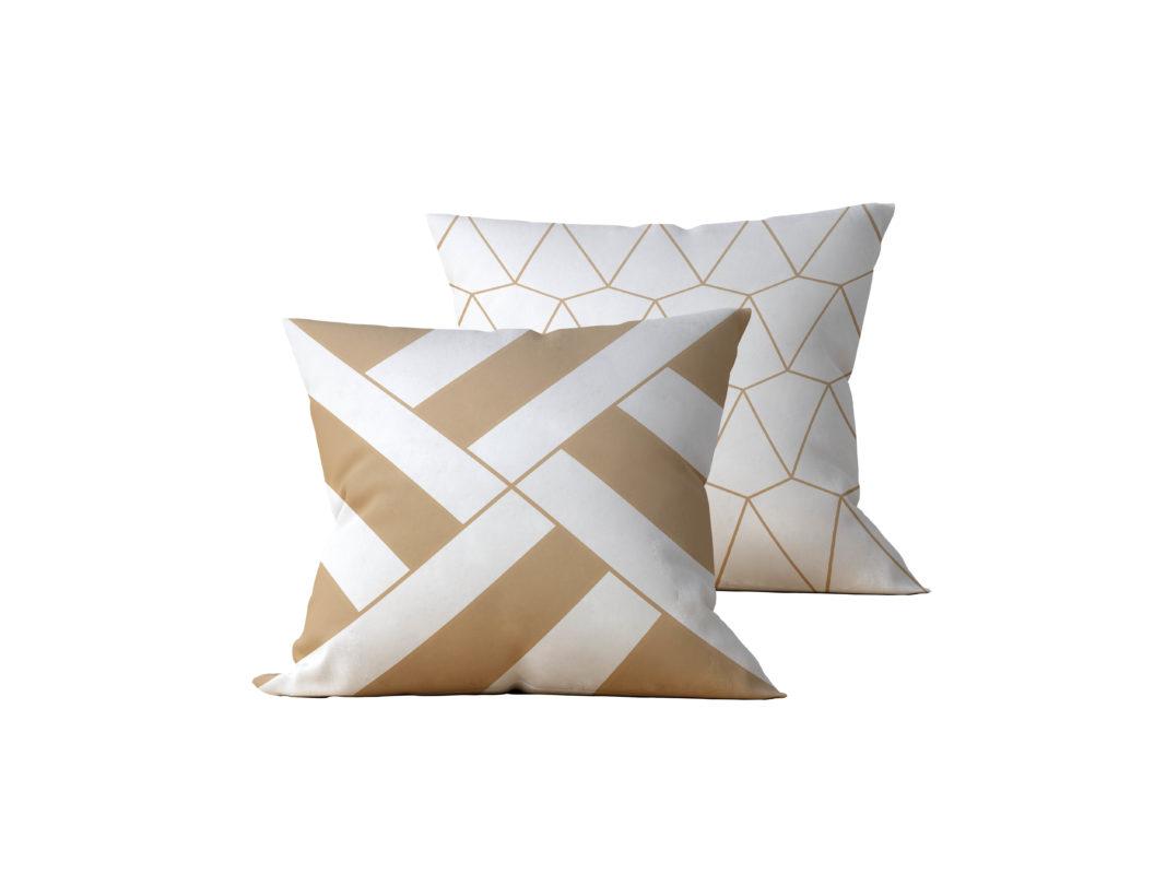 Kit: 2 Almofadas Decorativas Geométrica Gilt - 45x45