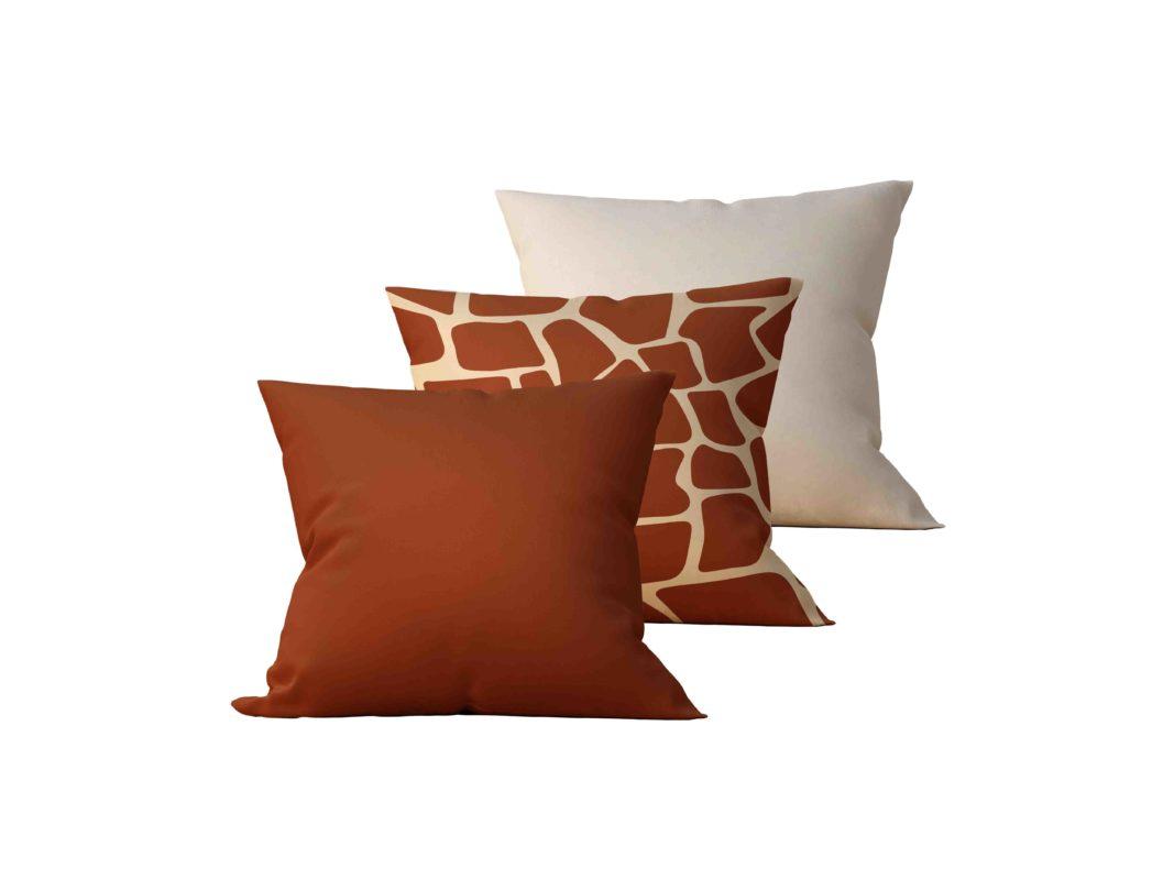 Kit: 3 Almofadas Decorativas Giraff - 45x45