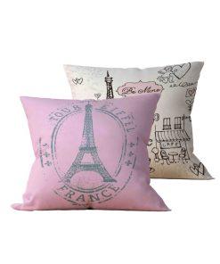 Kit: 2 Almofadas Decorativas Paris Life - 45x45