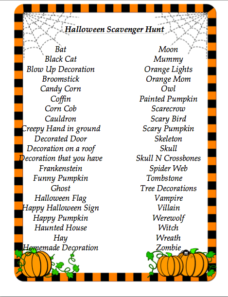Halloween Scavenger Hunt At Home Mama Blog