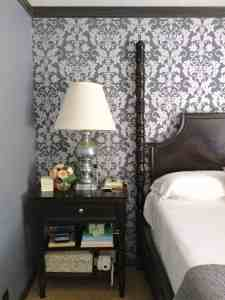 Master bedroom home tour. My decor how it is now- dresser, window, curtain, mirror, and grey paint color