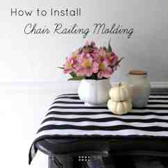 How To Install Chair Rail Plastic Adirondack Chairs Lowes Molding At Home With Ashley