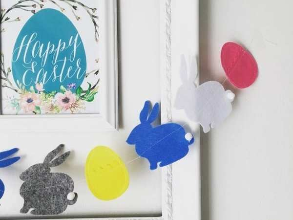 Easter Decorations- fast and easy Garland