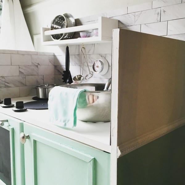 play kitchen how to make one from a thrift store find