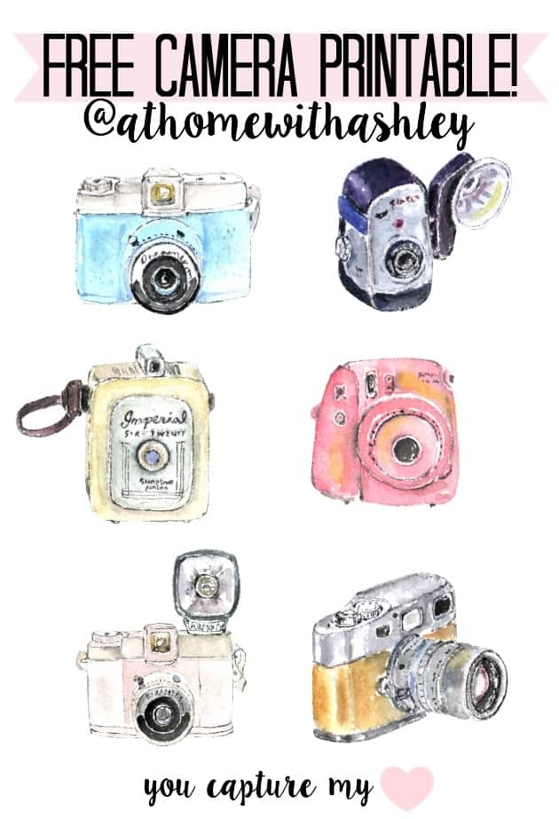 photograph regarding Camera Printable named totally free digicam printable - at dwelling with Ashley