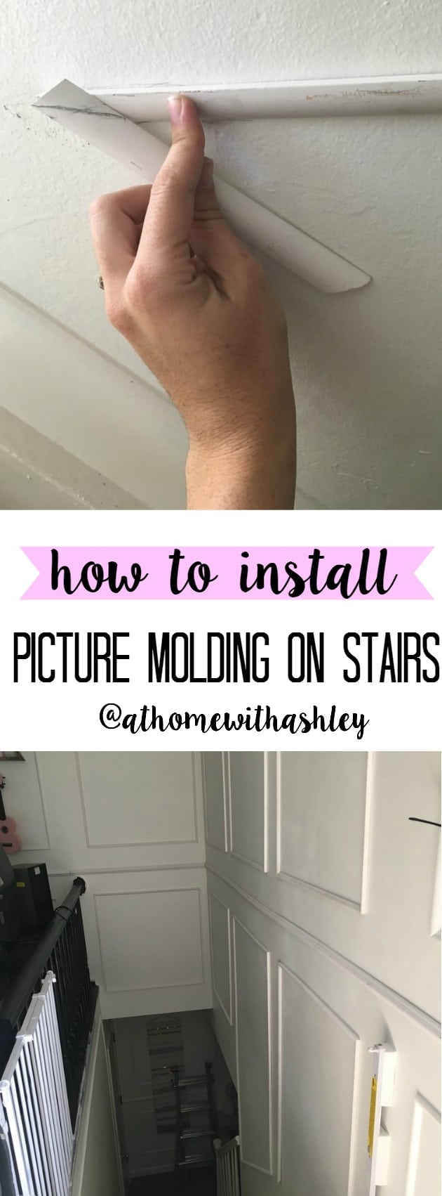 how-to-install-picture-molding-on-stairs