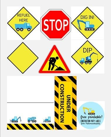 graphic regarding Printable Construction Signs named Dons Structure Birthday Get together - at house with Ashley